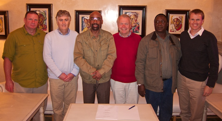 The negotiations and signing of the Sisheke Management Agreement was attended by representatives of the BRE, Javelin and Peace Parks