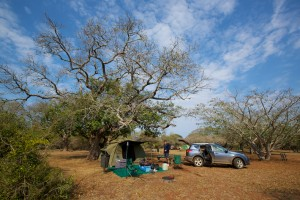 The idyllic campsite at Ndumo Game Reserve