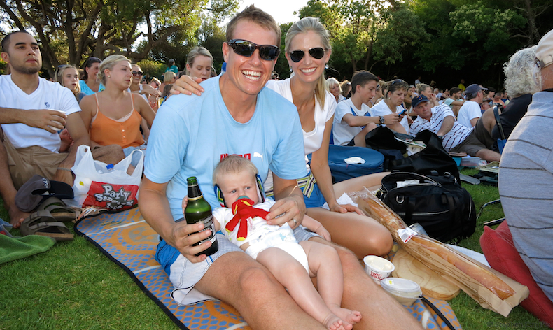 Family photo from the Freshly Ground Kirstenbosch concert on sweltering hot Sunday evening