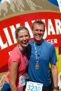 Two very happy Kili Half-Marathon finishers