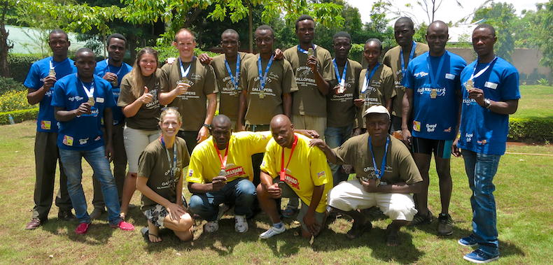 The Singita Grumeti team that successfully completed the Kilimanjaro half and full marathons