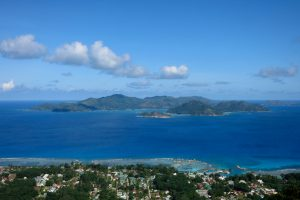 The view over Praslin from the Eagle's Nest