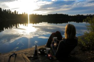 Enjoying a classic Boundary Waters sunset