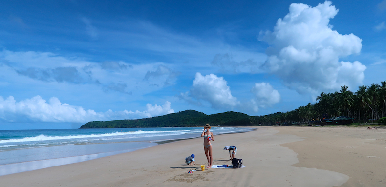 Undiscovered Nacpan Beach is a massive expanse of sand with few tourists
