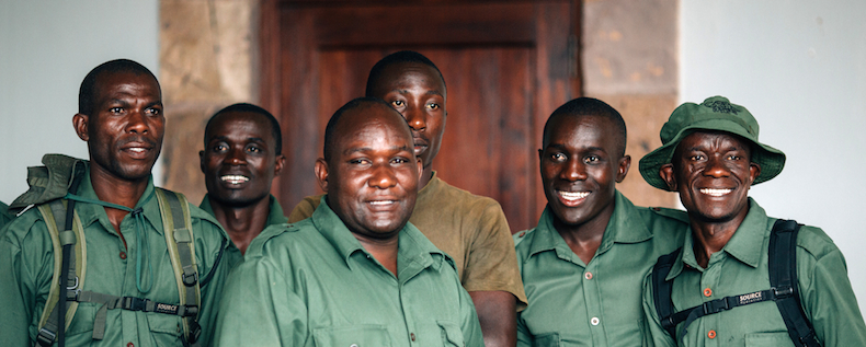 The Singita Grumeti Fund Canine Unit dog handlers