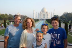 The Penry family enjoying the Taj