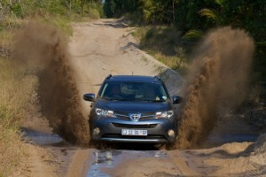 The RAV4 dominated deep sand, mud and water crossings