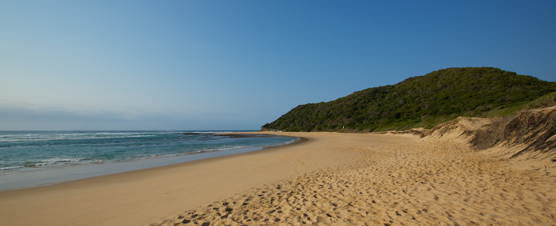 The pristine beach at Bhanga Nek in the Muputaland Marine Reserve
