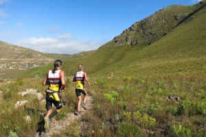 Running through the Groenlandberg foothills