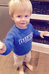 Duke's number one little fan on game day