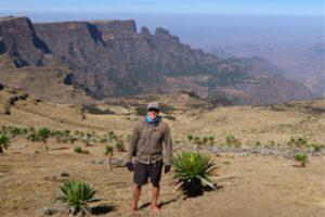 Climbing Ras Bawit with Chennek below