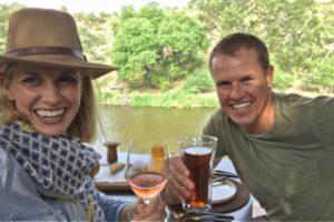 Enjoying a riverside lunch at the new Sweni Lodge