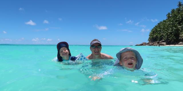 Seychelles swimming